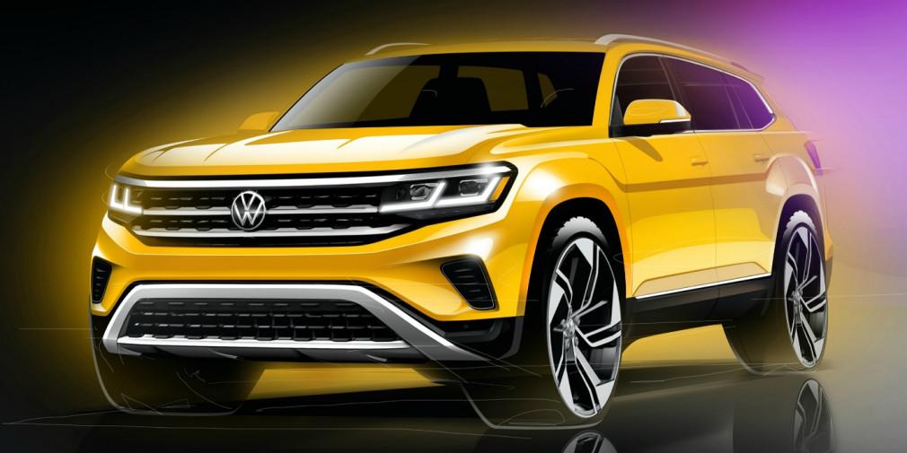 Volkswagen анонсировал обновленный кроссовер Teramont