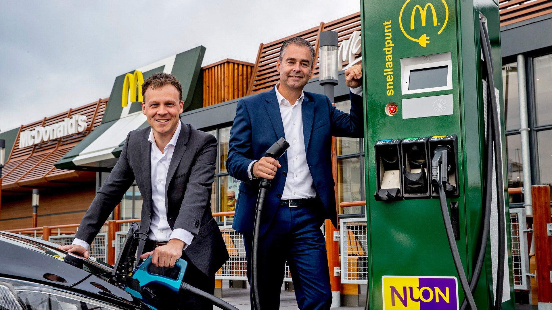 McDonald's запустил сеть зарядных станций для электрокаров
