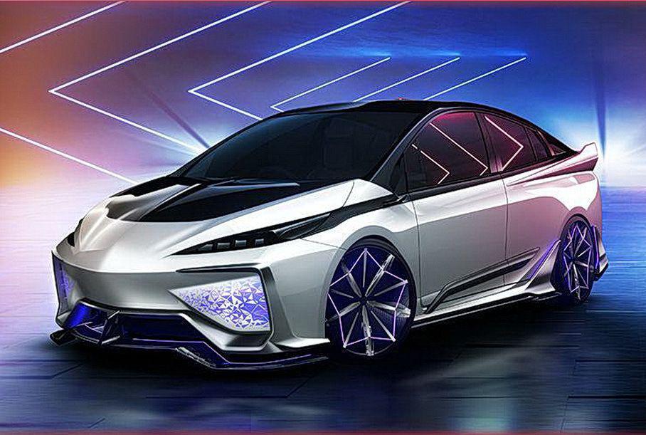 Toyota показала Prius со светящимся обвесом