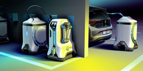 Мировая премьера революции в подземной автостоянке — Volkswagen освобождает своих зарядных роботов