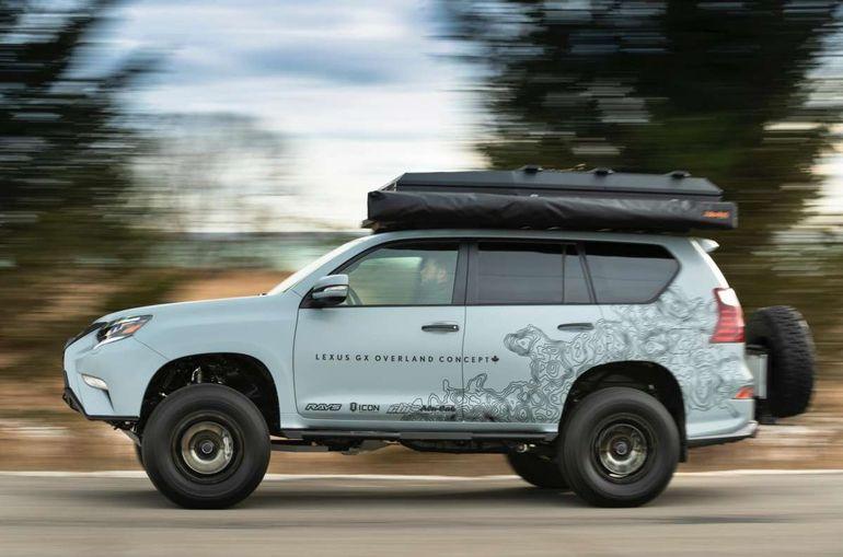 Новый внедорожник Lexus: палатка на крыше и откидная скамейка
