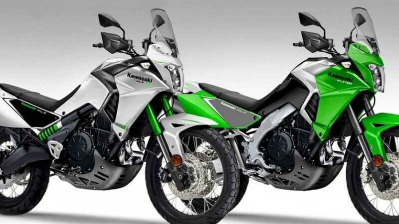 Внедорожный турист зелёного цвета: у Kawasaki появится турэндуро KLX700