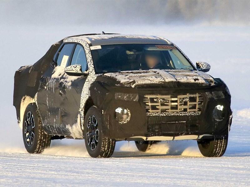 Пикап Hyundai пойман во время испытаний