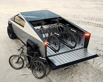 Электронный велосипед в дополнение к Tesla Cybertruck
